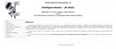 International Workshop on Intelligent Robots - (iR 2013)